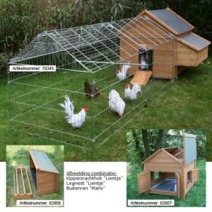 Buitenren marly|Kippen houden